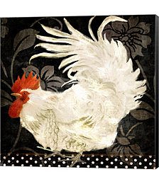 Rooster Damask I by Color Bakery Canvas Art