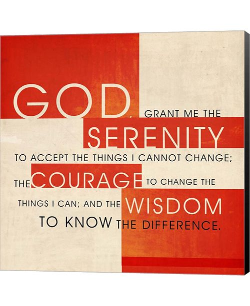Metaverse Serenity Prayer by Dallas Drotz Canvas Art