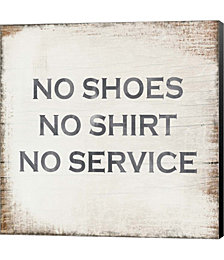 No Shoes No Shirt No Service by Linda Woods Canvas Art