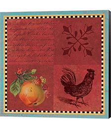 Rooster Deux by Tammy Apple Canvas Art