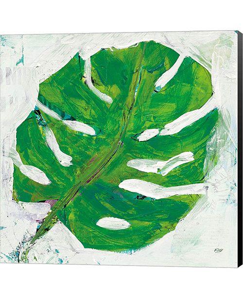 Metaverse Single Leaf Play on White by Sue Schlabach Canvas Art