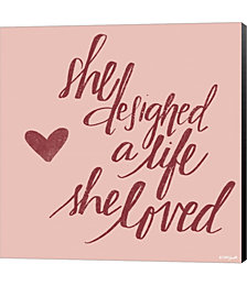 She Designed a Life by Katie Doucette Canvas Art