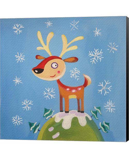 Metaverse Mountain Top Reindeer by P.S. Art Studios Canvas Art