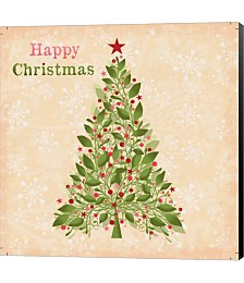 Happy Christmas - Tree by P.S. Art Studios Canvas Art