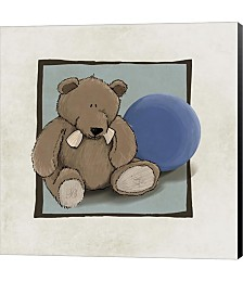 Teddy Bear and Ball by GraphINC Canvas Art