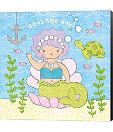 Magical Mermaid III by Moira Hershey Canvas Art