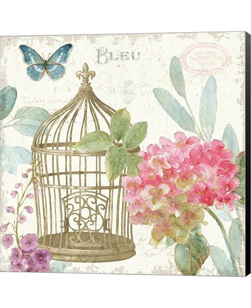 Metaverse Rainbow Seeds Floral Birdcage II v2 by Lisa Audit Canvas Art
