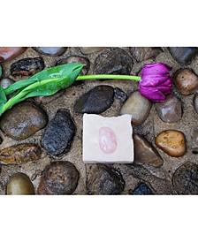Enchanted Rose Crystal Massage Soap: Geranium Essential Oil, Pink Clay and Rose Quartz