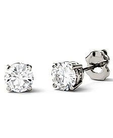 Moissanite Stud Earrings (1/2 ct. t.w. - 3 ct. t.w. Diamond Equivalent) in 14k White or Yellow Gold