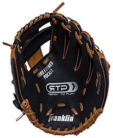 """9.5"""" Black/Tan Pvc Right Handed Thrower Baseball Glove With Ball"""