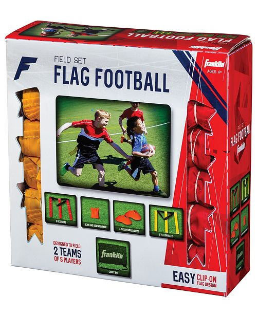 Franklin Sports 10 Player Youth Flag Football Field Set ...
