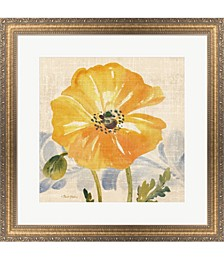 Watercolor Poppies 6 by Pamela Gladding Framed Art