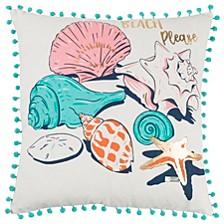 "Simply Southern 18"" x 18"" Sea Shells Pillow"
