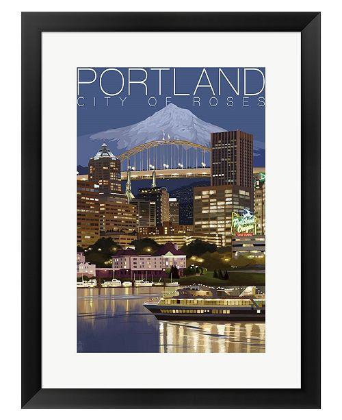 Metaverse Portland by Lantern Press Framed Art