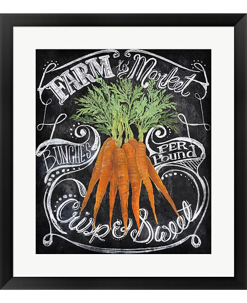 Metaverse Chalkboard Carrots by Art Licensing Studio Framed Art