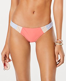 Hula Honey Juniors' Colorblocked Cheeky Hipster Bottoms, Created for Macy's
