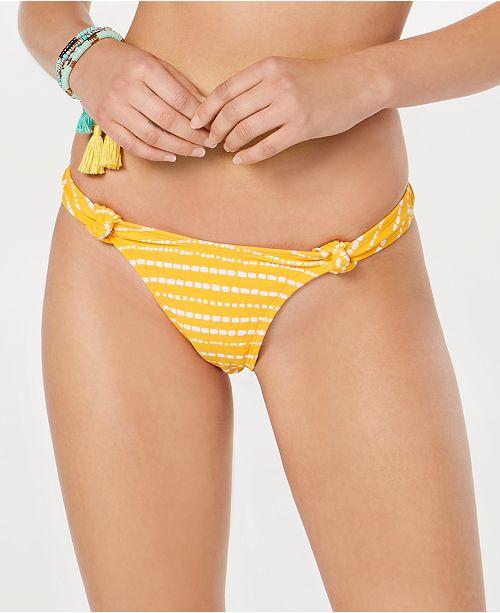 Hula Honey Juniors' Malawi Dot Printed Hi-Leg/Hi-Waist Cheeky  Bottoms, Created for Macy's