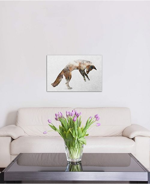 """iCanvas """"Jumping Fox"""" by Andreas Lie Gallery-Wrapped Canvas Print"""