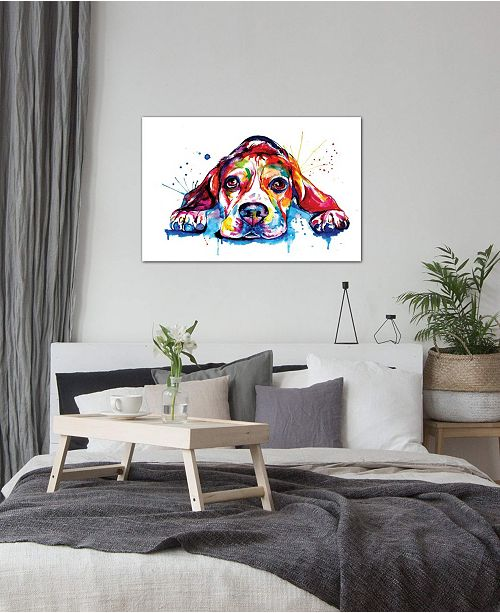 "iCanvas ""Beagle"" by Weekday Best Gallery-Wrapped Canvas Print"