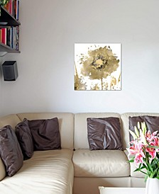 """""""Flower Burst In Gold I"""" by Vanessa Austin Gallery-Wrapped Canvas Print"""