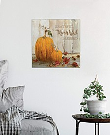 """Pumpkin Patch I"" by Sally Swatland Gallery-Wrapped Canvas Print (18 x 18 x 0.75)"