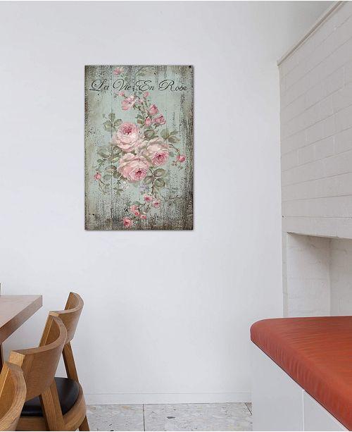 "iCanvas ""La Vie En Rose"" by Debi Coules Gallery-Wrapped Canvas Print (26 x 18 x 0.75)"