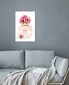 "iCanvas ""Round Perfume Bottle & Poppies"" by Amanda Greenwood Gallery-Wrapped Canvas Print"