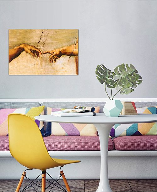 """iCanvas """"The Creation of Adam, C.1510"""" by Michelangelo Gallery-Wrapped Canvas Print (26 x 40 x 0.75)"""