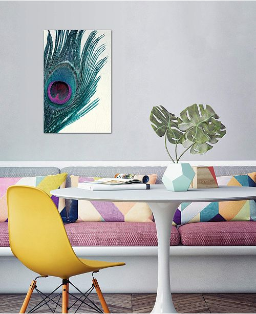 """iCanvas """"Feather"""" by Claudia Drossert Gallery-Wrapped Canvas Print (26 x 18 x 0.75)"""