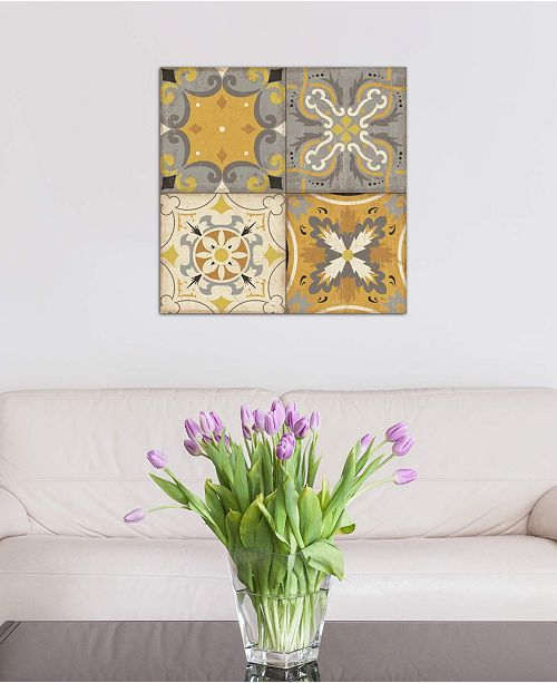 """iCanvas """"Gray Glow Square 4 Up"""" by Pela Studio Gallery-Wrapped Canvas Print (26 x 26 x 0.75)"""