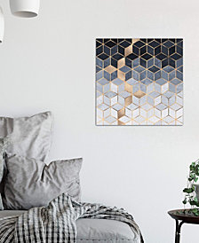 "iCanvas ""Soft Blue Cubes"" by Elisabeth Fredriksson Gallery-Wrapped Canvas Print (26 x 26 x 0.75)"