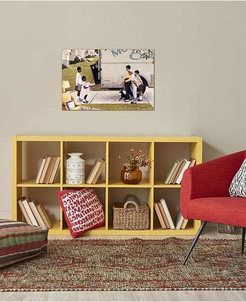 "iCanvas ""Moving In (New Kids In The Neighborhood)"" by Norman Rockwell Gallery-Wrapped Canvas Print"