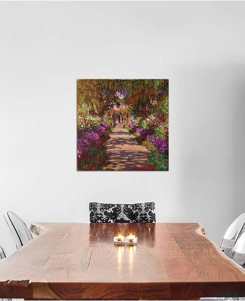 """iCanvas """"A Pathway in Monet's Garden, Giverny, 1902"""" by Claude Monet Gallery-Wrapped Canvas Print (26 x 26 x 0.75)"""