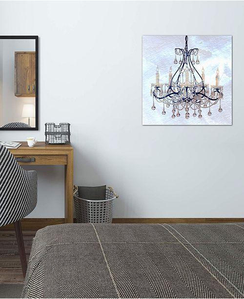 """iCanvas """"Frosted Chandelier"""" Gallery-Wrapped Canvas Print (26 x 26 x 0.75)"""