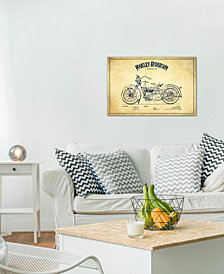 "iCanvas ""Harley-Davidson Vintage Patent Blueprint"" by Aged Pixel Gallery-Wrapped Canvas Print (26 x 40 x 0.75)"