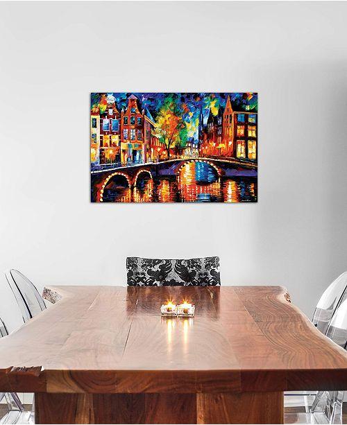"iCanvas ""The Bridges Of Amsterdam"" by Leonid Afremov Gallery-Wrapped Canvas Print (18 x 26 x 0.75)"