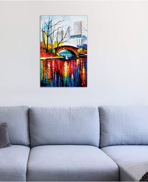 """iCanvas """"Central Park - New York"""" by Leonid Afremov Gallery-Wrapped Canvas Print (40 x 26 x 0.75)"""