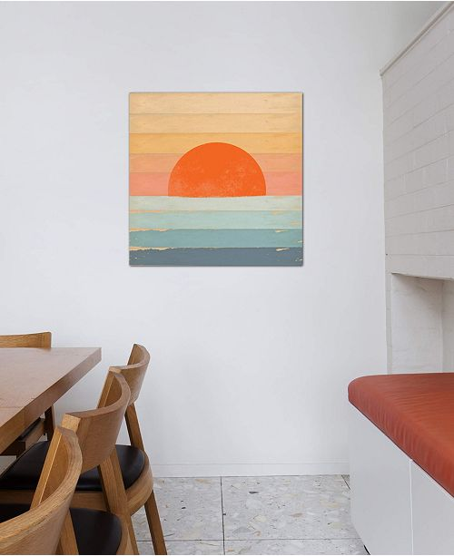 """iCanvas """"Sunrise Over The Sea"""" by Tammy Kushnir Gallery-Wrapped Canvas Print (18 x 18 x 0.75)"""
