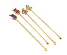 Bling Penguin Swizzle Sticks Set of 4
