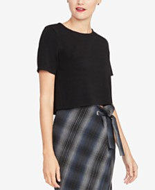 RACHEL Rachel Roy Crew-Neck Cropped Sweater