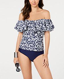 Island Escape Printed Swim Top & Bikini Bottoms, Created for Macy's