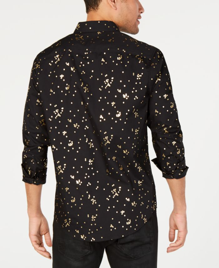 INC International Concepts INC Men's Confetti Foil Shirt, Created for Macy's & Reviews - Casual Button-Down Shirts - Men - Macy's