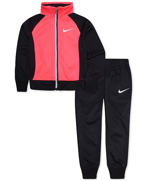 Nike Little Girls 2-Pc. Colorblocked Track Jacket & Pants Set