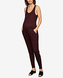 A Pea in the Pod Maternity Drawstring Jumpsuit