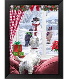 Westie At Window by The Macneil Studio Framed Art