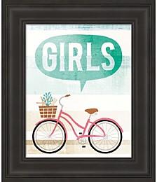Beach Cruiser Girls II by Michael Mullan Framed Art