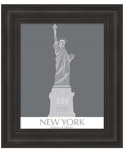 Metaverse New York Statue of Liberty Monochrome by Fab Funky Framed Art