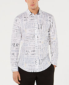 I.N.C. Men's Regular-Fit Scribble-Print Shirt, Created for Macy's