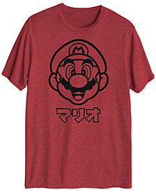 Mario Katakana Men's Big & Tall Graphic T-Shirt