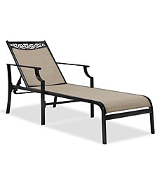 Outdoor Cast Aluminum Chaise, Created For Macy's
